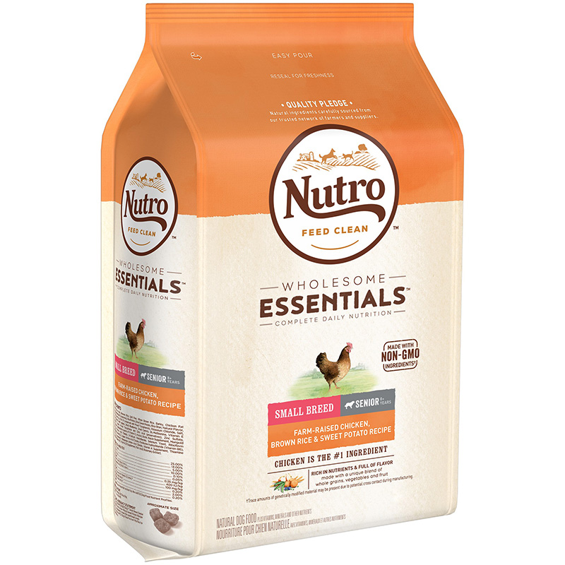 Nutro Wholesome Essentials Small Breed Senior with Farm-Raised Chicken, Brown Rice & Sweet Potato 5 lbs. I013246