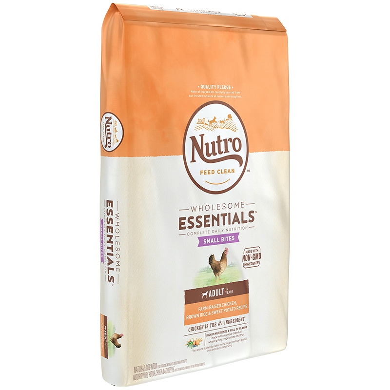 Nutro Wholesome Essentials Small Bites Adult with Farm-Raised Chicken, Brown Rice & Sweet Potato I013247b