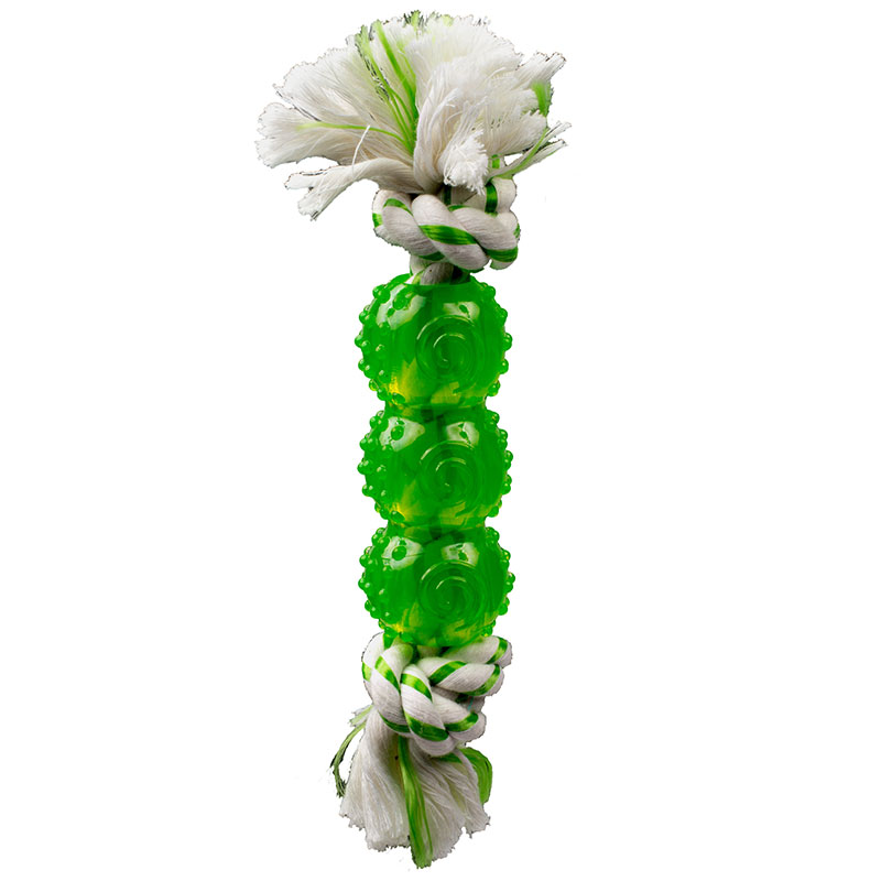 "Canine Clean Spearmint Rope with TPR Balls 6.5"" I013291"