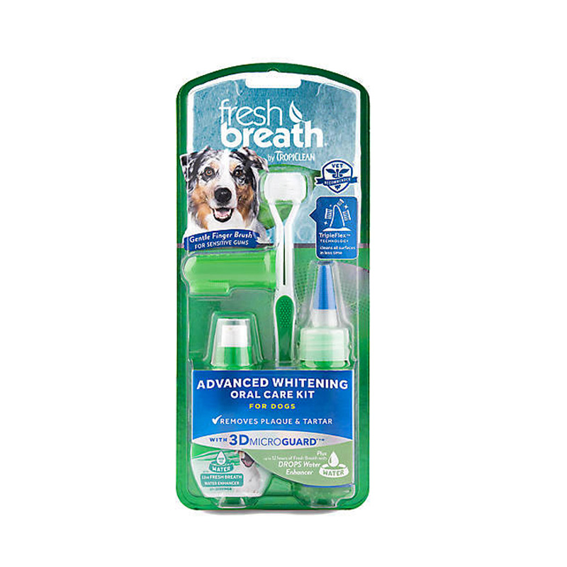 Tropiclean Fresh Breath Advanced Whitening Oral Care Kit With 3D MicroGuard I013301