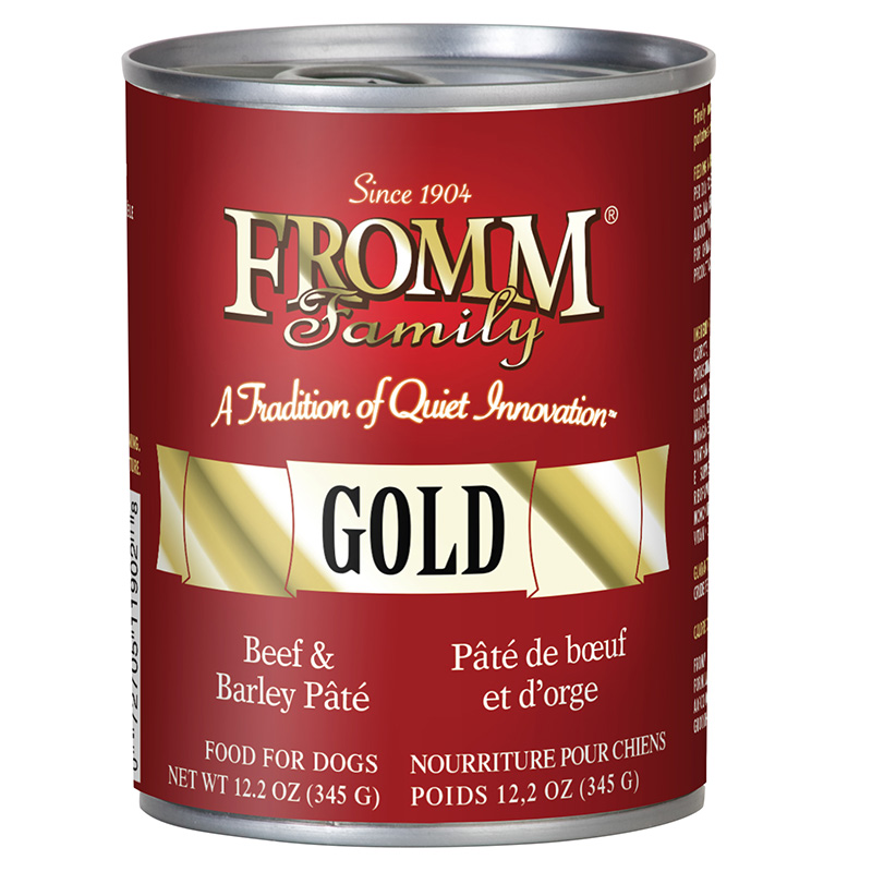 Fromm Gold Beef and Barley Pate Wet Dog Food 12.2oz.