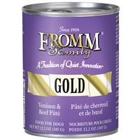 Fromm Gold Venison and Beef Pate Wet Dog Food 12.2oz.