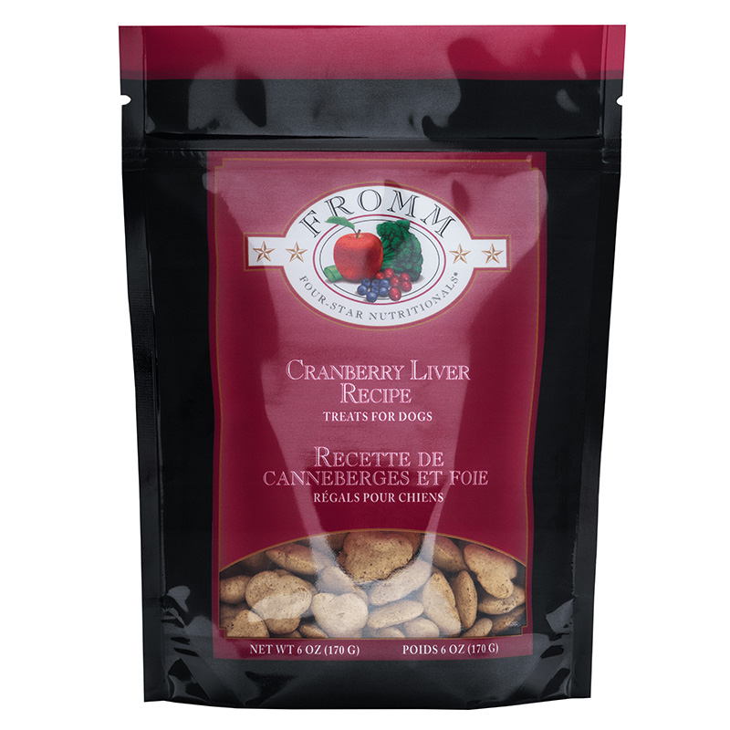 Fromm Low Fat Cranberry and Liver Dog Treats 6oz.