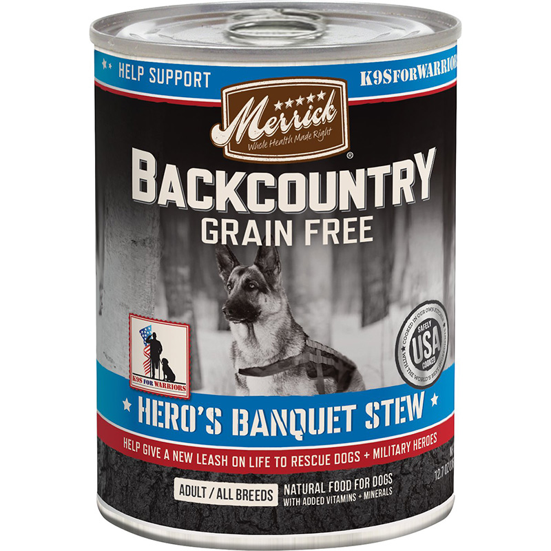 Merrick Backcountry Grain Free Hero's Banquet Stew 12.7oz I013367