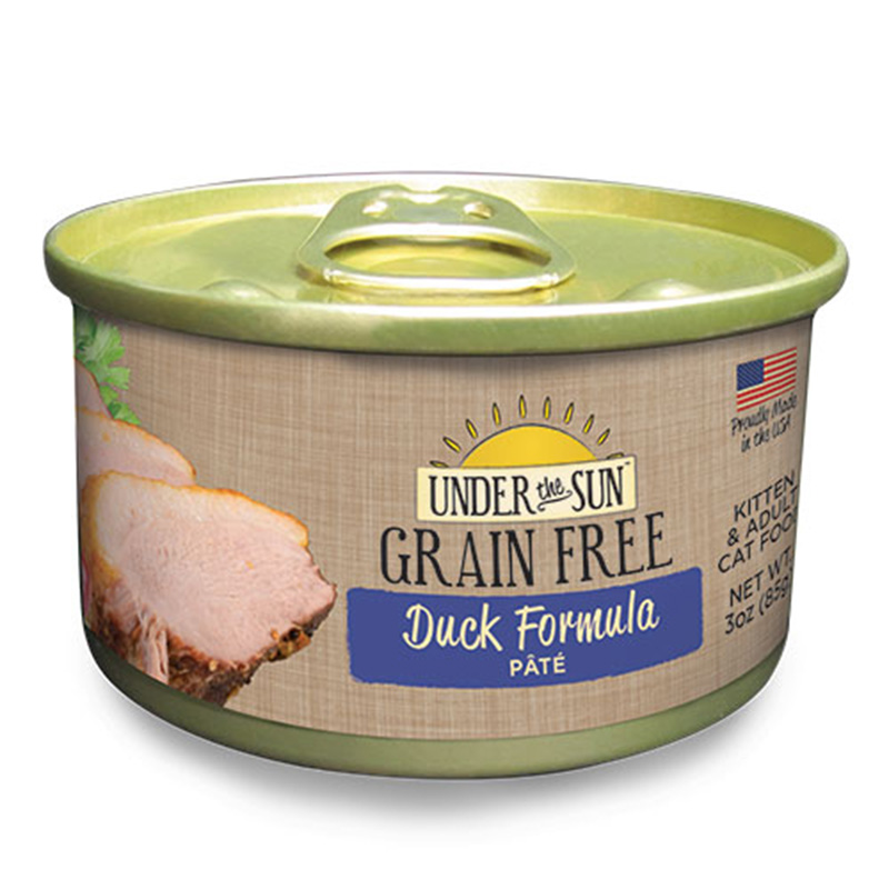 Canidae Under The Sun Grain Free Duck Pate Wet Cat Food 3oz.