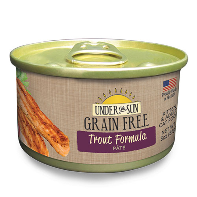 Canidae Under The Sun Grain Free Trout Pate Wet Cat Food 3oz.