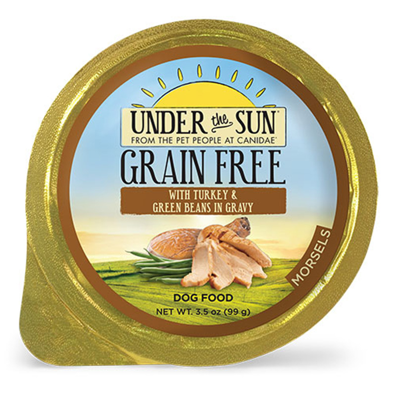 Canidae Under The Sun Grain Free Turkey and Green Beans in Gravy Wet Dog Food 3.5oz.