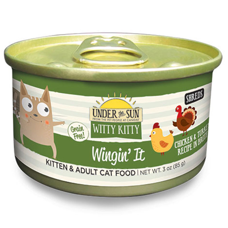 Canidae Under The Sun Witty Kitty: Wingin' It Chicken and Turkey Wet Cat Food 3oz.