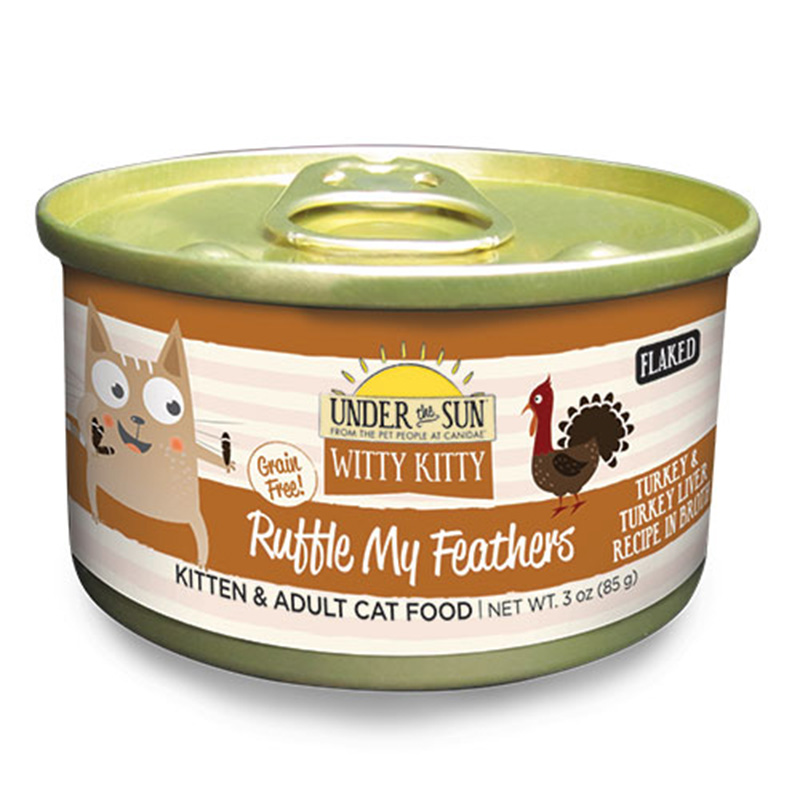 Canidae Under The Sun Witty Kitty: Ruffle My Feathers Turkey and Turkey Liver Wet Cat Food 3oz.