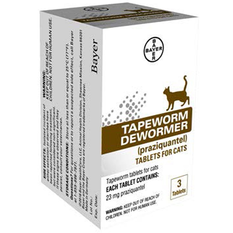 Bayer Tapeworm Dewormer for Cats 3 pk. I013428