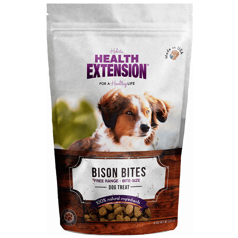 Holistic Health Extension Bison Bites Dog Treats 6oz I013445