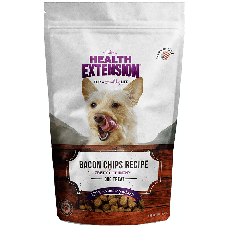 Holistic Health Extension Bacon Chip Dog Treats 4oz I013446