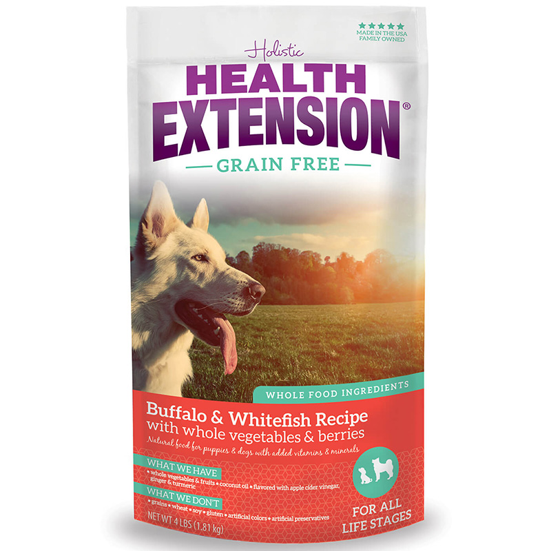 Holistic Health Extension Grain Free Buffalo/Whitefish Dog Food I013448b