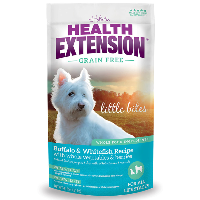 Holistic Health Extension Grain Free Little Bites Buffalo/Whitefish Dog Food I013456b