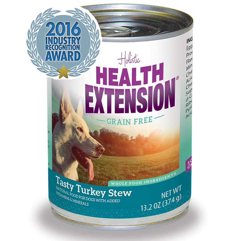 Holistic Health Extension Grain Free Turkey Stew Dog Food 13.2oz.