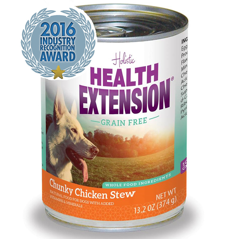Holistic Health Extension Grain Free Chicken Stew Dog Food 13.2oz.