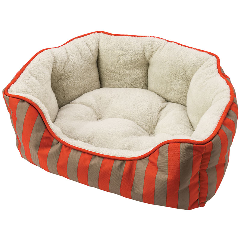 Ethical Sleep Zone Cabana Stripe Cuddle Bed Orange I013538b