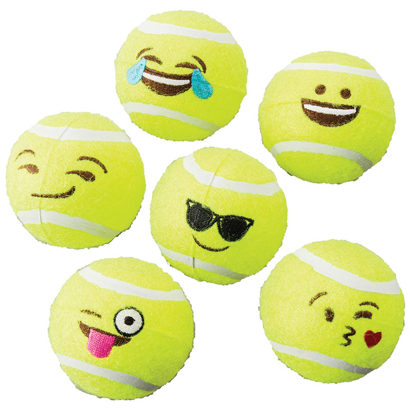 Spot Emoji Tennis Ball 6 Pack  I013591