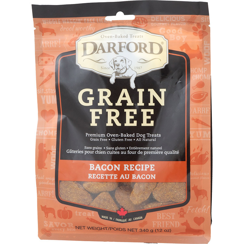 Darford Grain Free Bacon Recipe Dog Biscuit 12 oz. I013614