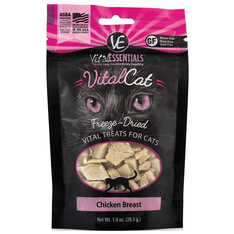 Vital Essentials Freeze Dried Cat Chicken Breast 1oz I013617