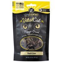 Vital Essentials Freeze Dried Cat Duck Liver .9 oz.  I013619