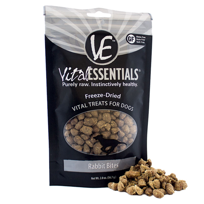 Vital Essentials Freeze Dried Rabbit Bites 2 oz. I013627