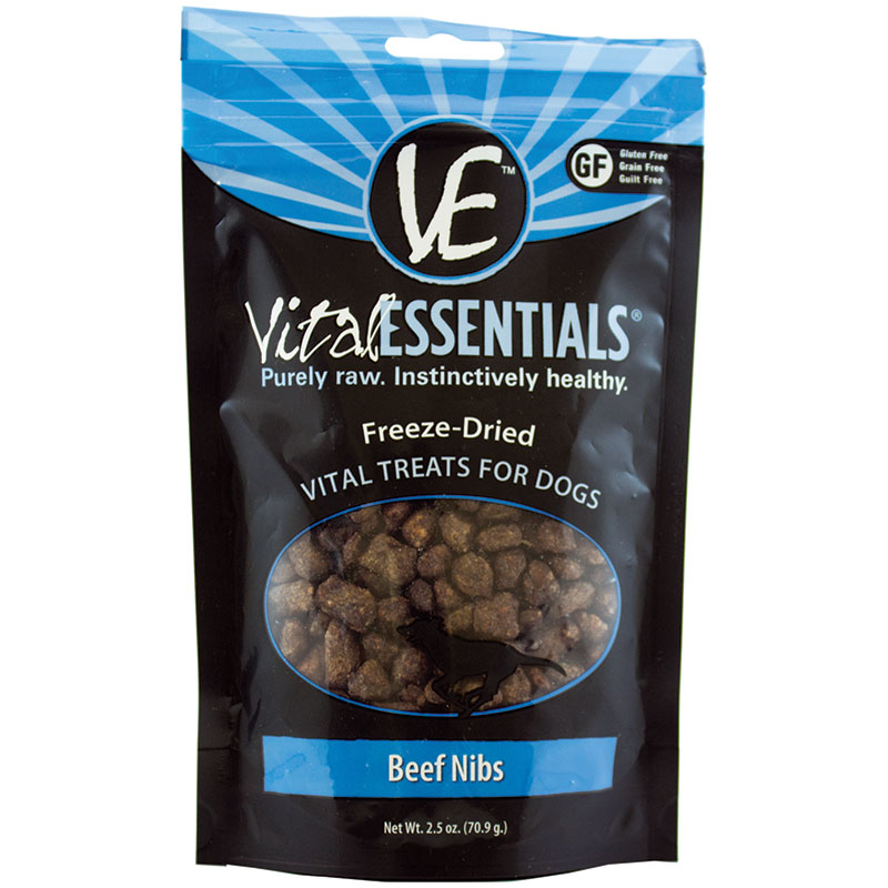 Vital Essentials Freeze Dried Beef Nibs 2.5 oz. I013628