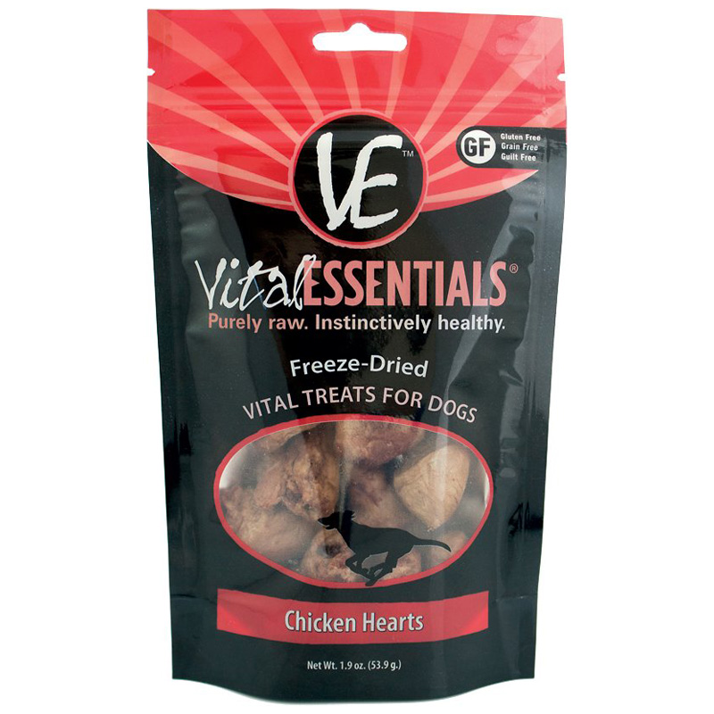 Vital Essentials™ Freeze Dried Chicken Hearts 1.9 oz. I013631