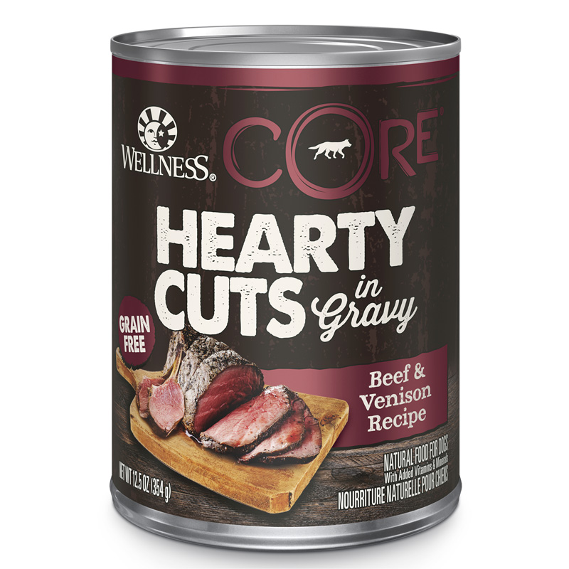 Wellness CORE Hearty Cuts Beef & Venison Dog Food 12.5oz Can I013713