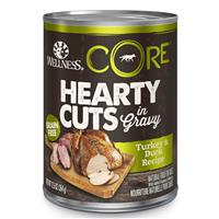 Wellness CORE Hearty Cuts Turkey & Duck Dog Food 12.5oz Can  I013714