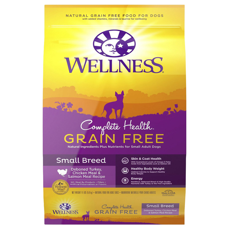 Wellness Complete Health Grain Free Small Breed Dog Food 12lb Bag I013826
