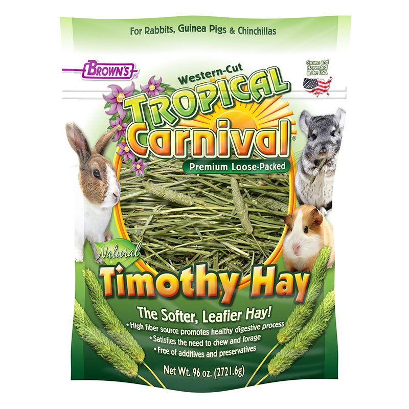 FM Brown's Tropical Carnival® Natural Loose Timothy Hay 96 oz. Bag I013838