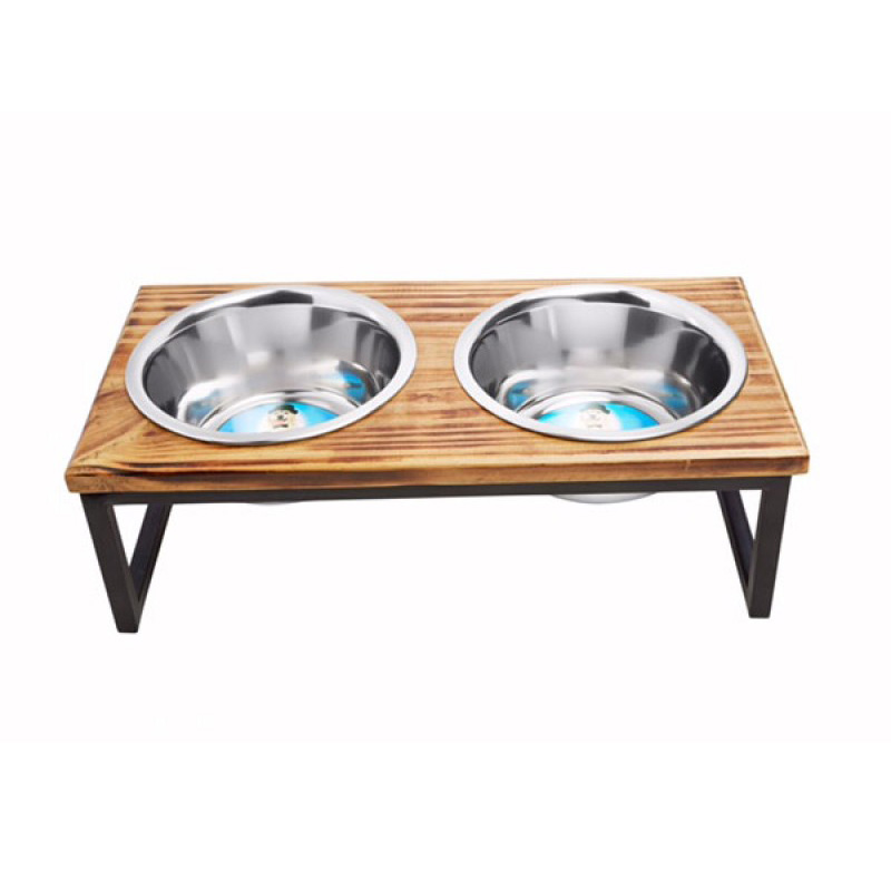 Indipets Luxe Craft Contemporary Wooden Diner  I013855b