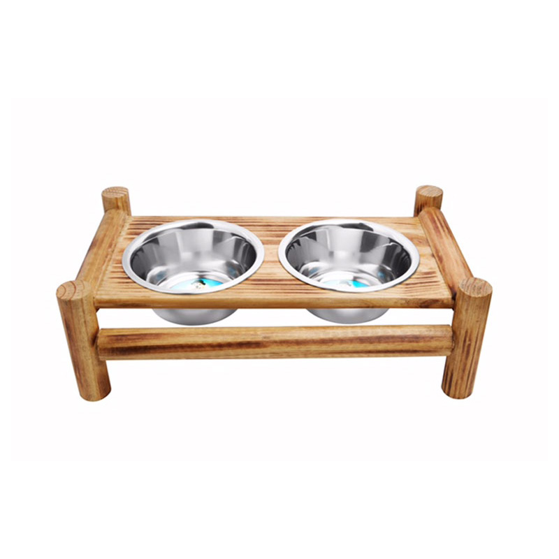 Indipets Luxe Craft Bamboo Finish Diner  I013858b