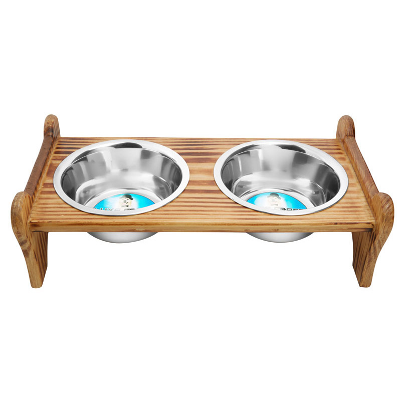 Indipets Luxe Craft Wooden Burnout Diner  I013861b