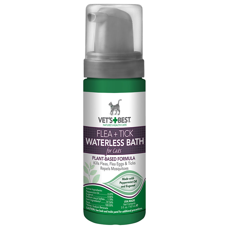 Vet's Best Flea & Tick Waterless Bath For Cats I013870