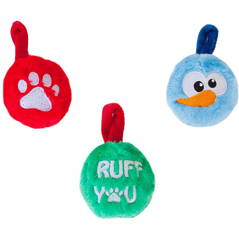 Outward Hound Plush Ornaments Christmas 3-Pack I013881