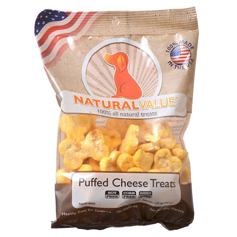 Loving Pets Natural Value Puffed Cheese Treats 1.25 oz  I013888