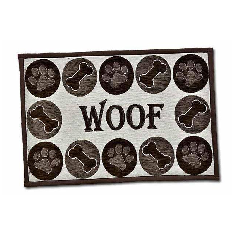 Loving Pets Bella Fashion Mat Woof Chenille  I013898