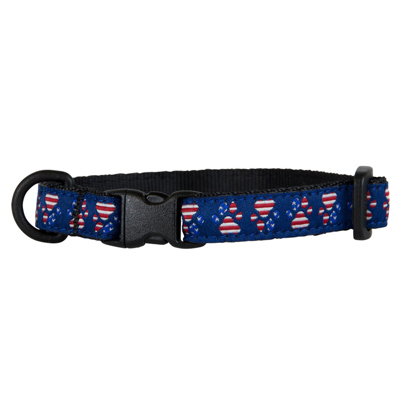 "Patriotic Paws Kitty Breakaway  Adjustable Collar 8""-10"" I013918"