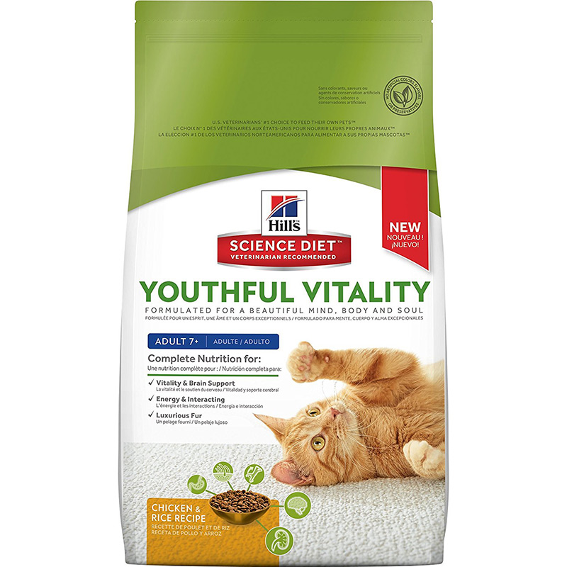 Hill's Science Diet Youthful Vitality Cat Adult 7+ I013940b