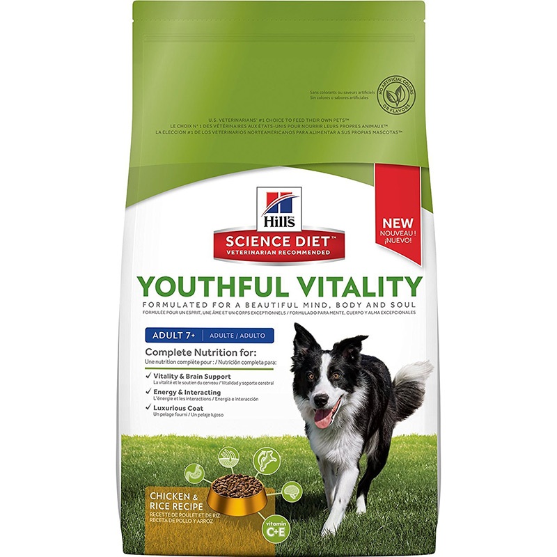 Hill's Science Diet Youthful Vitality Dog Adult 7+ Chicken & Rice Recipe I013937b