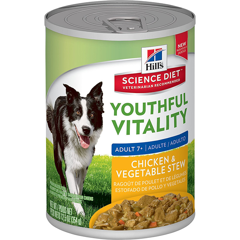 Hill's Science Diet Youthful Vitality Adult 7+ Chicken & Vegetable Stew 12.5oz. I013942