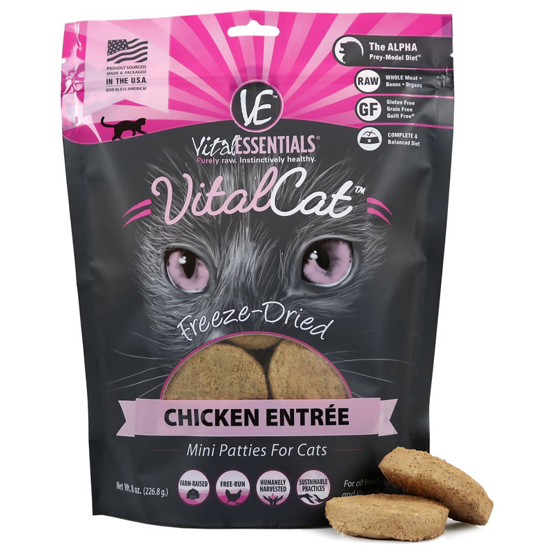 VItal Essentials Feline Freeze Dried Mini Pattie Chicken 10.5oz I013959