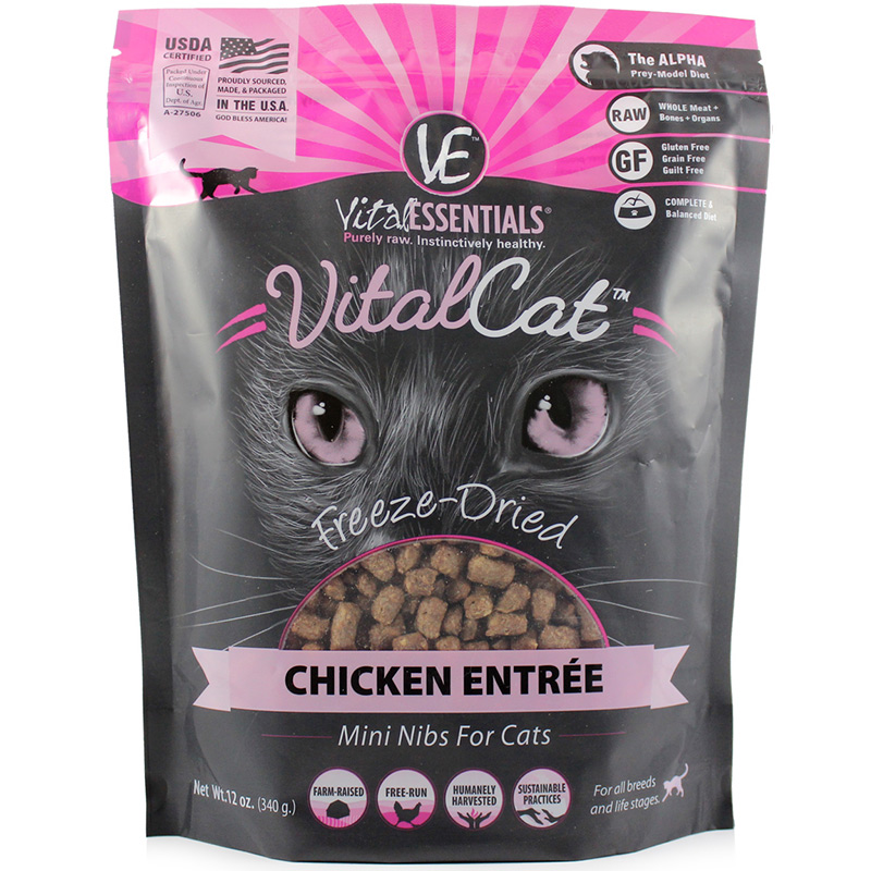 Vital Essentials vital Cat Chicken Entree Mini Nibs 12 oz. I013963