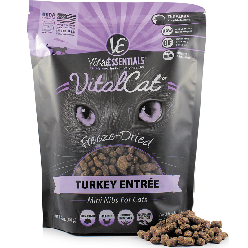 Vital Essentials Vital Cat Turkey Entrée Mini Nibs 12 oz I013964