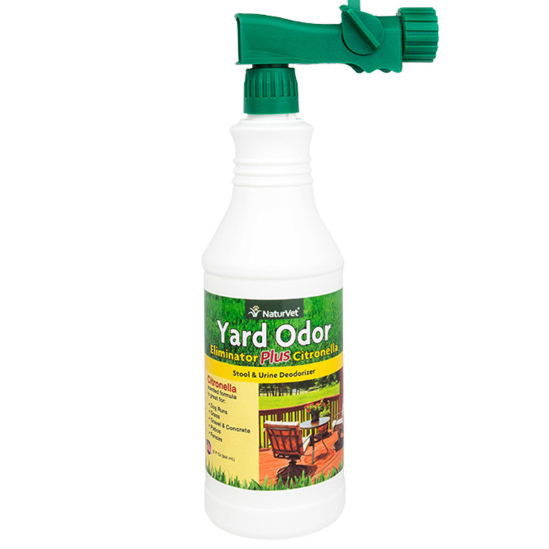 NaturVet Yard Odor Eliminator Plus Citronella Hose Nozzle Spray 32 oz. I013970