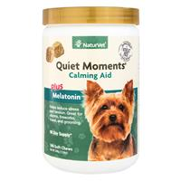 NaturVet® Quiet Moments Calm Aid plus Melatonin, soft chew 180 ct. New larger size! I013975