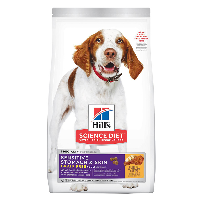 Hill's Science Diet Adult Sensitive Stomach & Skin Grain Free Dog Food 24 lbs I014066