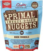 Primal Duck Formula Nuggets Grain-Free Raw Freeze-Dried Cat Food 5.5oz Bag I014118